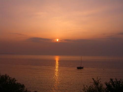近江八幡:夕焼け